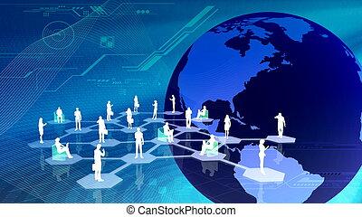 communitty, ネットワーク, 社会