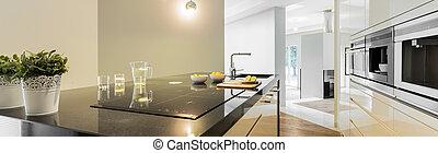 countertops, 設計された, 台所