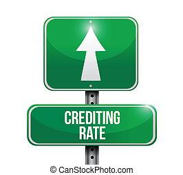 crediting, レート, 道, イラスト, 印