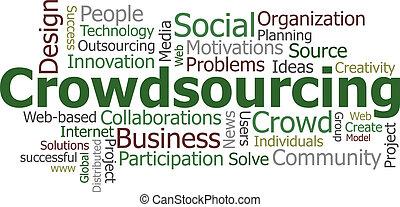 crowdsourcing, 単語, 雲