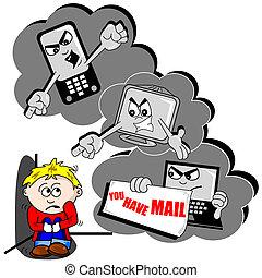 cyber, 漫画, いじめ