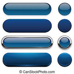 dark-blue, buttons., high-detailed, 現代, 網