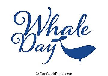 day., concept., inscription., eps10, 背景, 世界, カード, illustration., テンプレート, ベクトル, ポスター, 休日, クジラ, 旗, テキスト