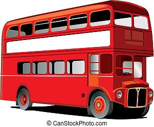 decker, ダブル, ロンドン, バス