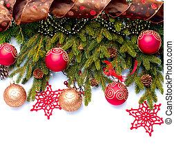 decoration., 装飾, 隔離された, 休日, クリスマス, 白