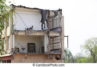 demolished, 建物