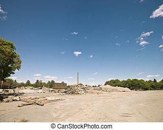 demolished, 近所