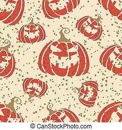 design., あなたの, 赤, オレンジ, カボチャ, 微笑