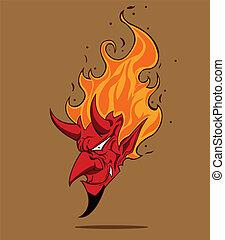 devil., ハロウィーン, モンスター, 赤