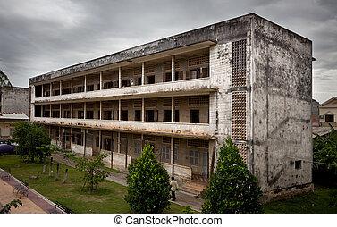 dictatorship, カンボジア, pot., pol, 刑務所, の間, penh., s21., phnom
