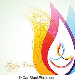diwali, 背景, 創造的