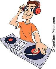 dj, 音楽, 遊び