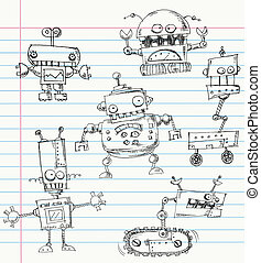 doodles, ロボット