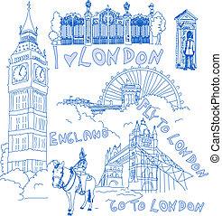 doodles, ロンドン, handdrawn