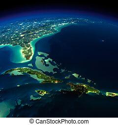 earth., バミューダ島, 三角形, 夜, 区域