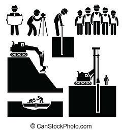 earthwork, 建築作業員, アイコン