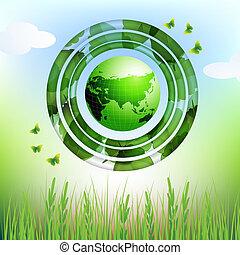 eco, 地球, デザイン