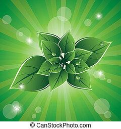 eco, 緑は 去る, ベクトル, デザイン