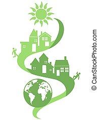 eco, 自然, 共同体, 背景