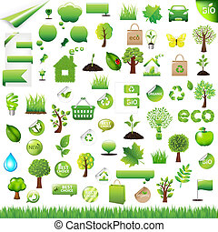 eco, 要素, デザイン, コレクション