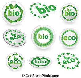 eco, bio, アイコン