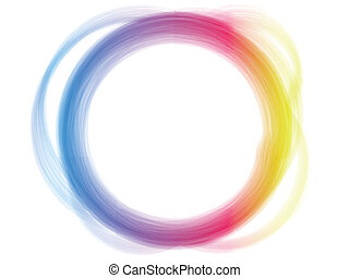 effect., 虹, 円, ボーダー, ブラシ