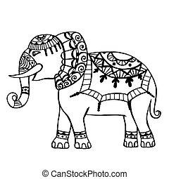 elephant., 刻まれた
