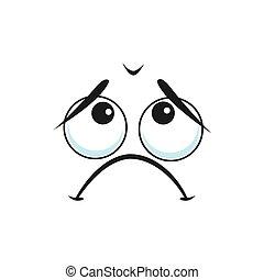 emoji, 当惑させている, 退屈させられた, emoticon, 疲れた, ∥あるいは∥, 隔離された