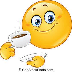 emoticon, コーヒー