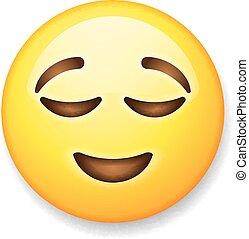 emoticon, 取り除かれる, 隔離された, 顔, 背景, 白, emoji