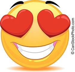 emoticon, 感じ, 愛, smiley