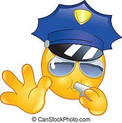 emoticon, 警官