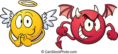 emoticons., 天使, 悪魔