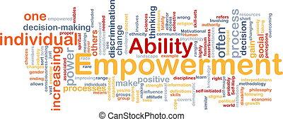 empowerment, 概念, 骨, 背景