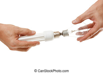 energy-saving, 白熱電球, 手
