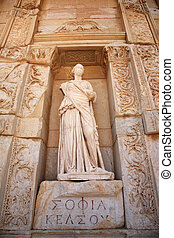 ephesus, sophia, 像, 知恵