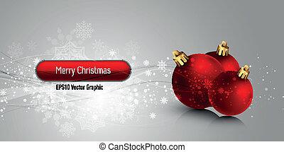 eps10, クリスマス, ベクトル, 背景, 地球儀, 旗,  , 赤