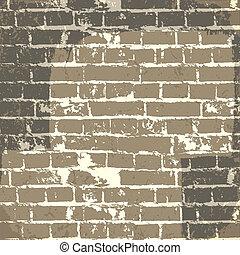 eps10, 壁, message., ベクトル, 背景, グランジ, れんが, あなたの
