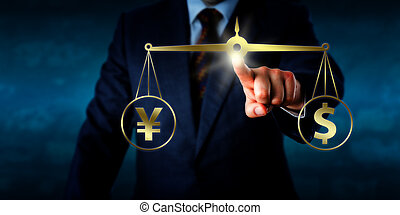 equating, パー, ドル記号, マネージャー, yuan