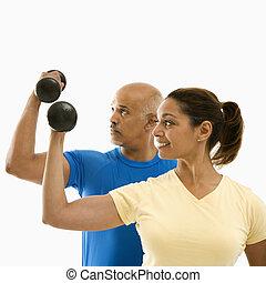 exercising., 女, 人