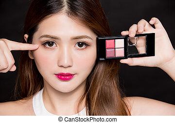 eyeshadow, 女, トレー