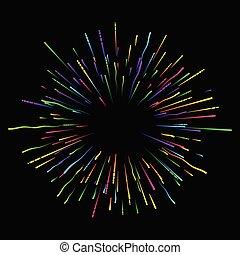 firework., 休日, 黒, カラフルである, 背景