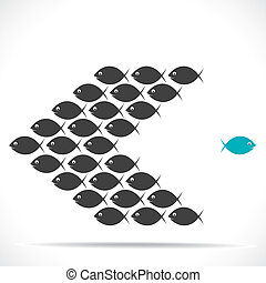 fish, 動きなさい, 方向, 反対