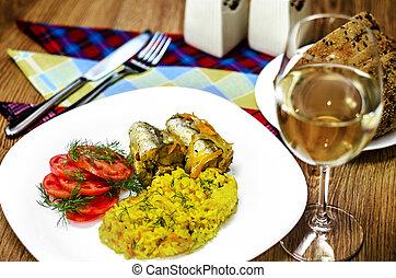 fish, 野菜, フィレ