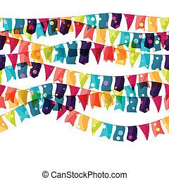 flags., 有色人種, パターン, seamless, 休日, 光沢がある, 祝福