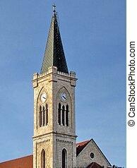 franciscan, clocktower, 教会, jaffa, 2011