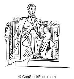 freehand, リンカーン;アブラハム, スケッチ