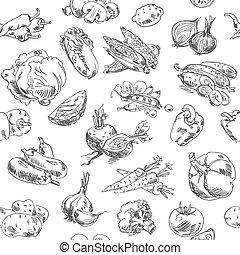 freehand, 野菜, 図画