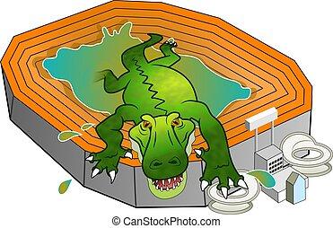 gator, 競技場