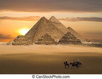 gizeh, ファンタジー, ピラミッド